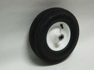 10 X 3.50   4 Sawtooth Tire & Wheel   White 3/4 Ball Bearing 2 1/4