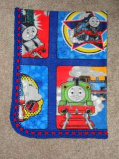 CRIB/NAP BLANKET  THOMAS TRAIN & FRIENDS IN PICTURE BLOCKS   3 SIZES