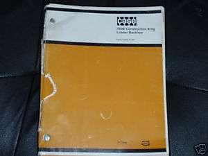 CASE 780B CONSTRUCTION KING LOADER BACKHOE PARTS BOOK
