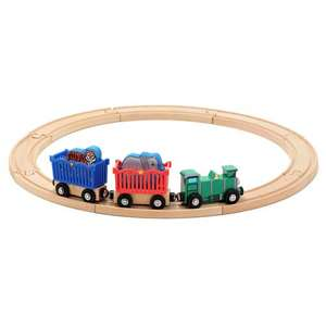 New Wooden Zoo Animal Train Track Set Thomas Train Brio