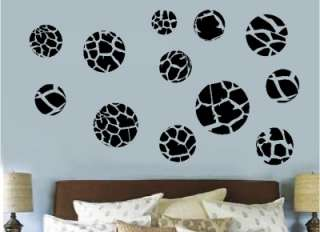 60 Animal Print Polka Dots Wall Sticker Vinyl Decal Art