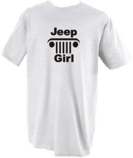 JEEP GIRL T SHIRT SHIRT GIFT FREE REAR WINDOW STICKER