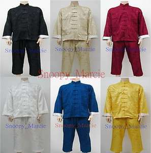 New Chinese Dragons Kung Fu Suits Tai Chi Uniform Gifts Size S M L XL