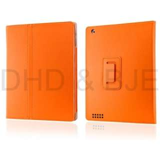 New PU Leather Folio Case Cover Stand for The New iPad 3 & 2 w/ Screen