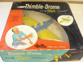 THIMBLE DROME PT 19 .049 POWERED CONTROL LINE MODEL AIRPLANE **