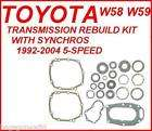 W58 W59 5 SPEED MANUAL TRANSMISSION REBUILD KIT WITH SYNCHROS 92