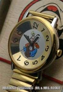 Disney Mens Goofy Crazy Number with Expansion band Watch HTF