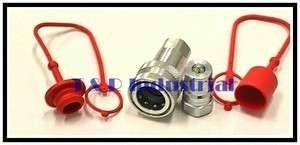 ISO B Hydraulic Quick Couplers w/Dust Cap & Plug
