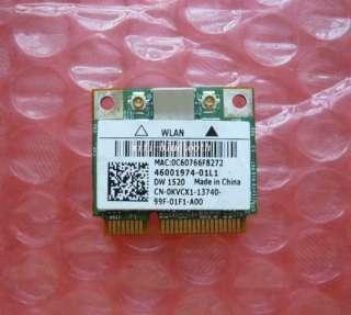 Dell LATITUDE E6510 E6410 E5410 Wireless N DW1520 1520 WLAN Half Mini