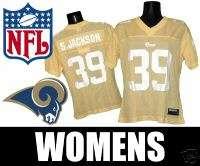 ST LOUIS RAMS WOMENS NFL JERSEY STEVEN JACKSON medium y