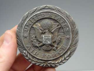 States Air Force Military Metal Brass Belt Buckle Badge Used NR