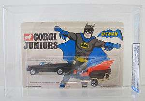 Corgi Juniors Vintage Batman Batmobile and Batboat 1975 DCA Graded
