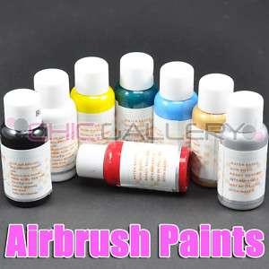 8x Color Airbrush Paint Nail Art Airbrushing #158