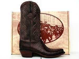 Classic Mens Belly Cut Hornback Caiman Gator Cowboy Boots
