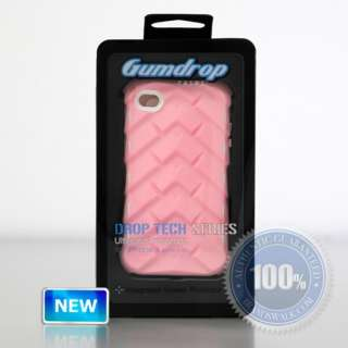 Gumdrop Drop Tech Series iPhone 4 & 4S Case PINK/WHITE NEWEST VERSION