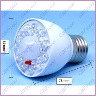 E27 3W Human Sensor White LED Lamp Light Bulb 80 250V