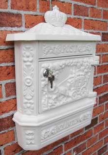 Wandbriefkasten im Jugendstil ALU Guss Briefkasten