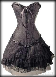 Black GOTH Vest Style CORSET Bustier Vegan Leather S 6XL Clubwear