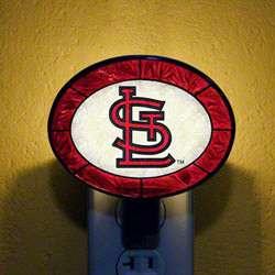 St. Louis Cardinals Art Glass Night Light