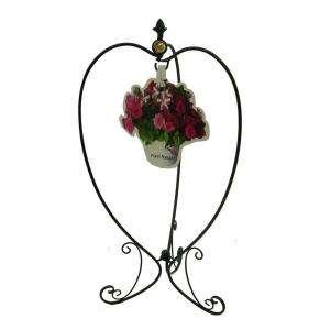 Cast Iron Hanging Basket Tree Garden Plant Stand Brass