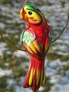 Unique Hand Painted Smithsonian Ceramic Parrot Bird