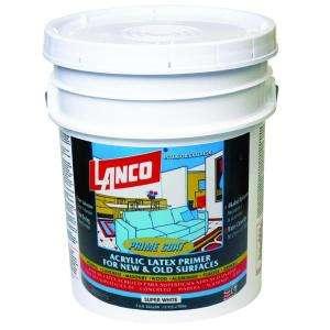 Lanco Prime Coat 5 Gal. Acrylic Latex Super White Interior/Exterior