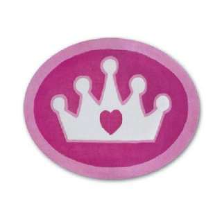 Disney Princess Shaped Crown 4 ft. Round Area Rug DISCONTINUED