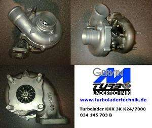 Turbolader KKK 24 7000 Audi Urquattro 20V RR 3B ABY AAN