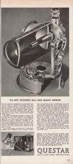 QUESTAR TELESCOPE Interior Diagram 1965 Photo AD