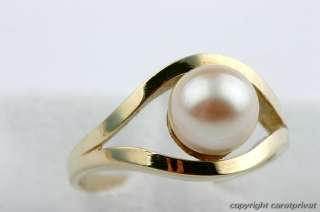 Perlenring in Gold Ring mit Perle