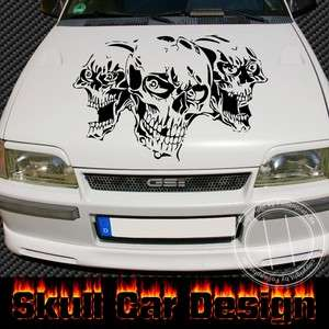 Skulls Design  Auto Tattoo /Aufkleber 100 cm, VW, OPEL,FORD,BMW