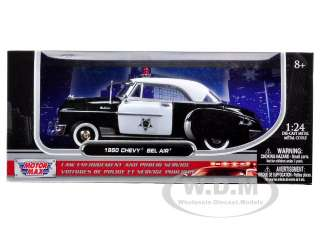 1950 CHEVROLET BEL AIR POLICE 124 DIECAST CAR MODEL BY MOTORMAX 76931