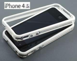 Stück Bumper Tasche Apple iPhone 4 4S Case #BBW + Schutzfolie Cover