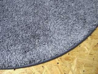 2660 Neu Teppich Mini shag shaggy blau rund 110 cm