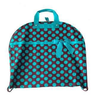 BLUE / BROWN POLKA DOT GARMENT DRESS BAG SUIT LUGGAGE