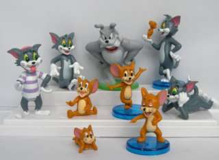 Tom and Jerry figures toys cake topper Lot 9pcs collection