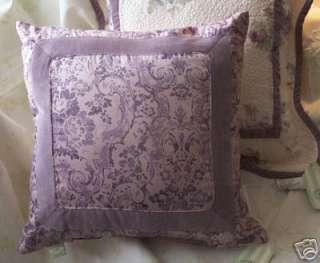 Rachel Ashwell PINK PAISLEY & VELVET Fiona pillow NWT