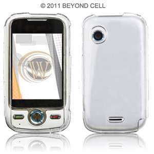 CLEAR PHONE HARD COVER CASE FOR METRO PCS HUAWEI M735