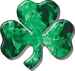 Irish Shamrock Inferno Green Decal Sticker Graphic FF78
