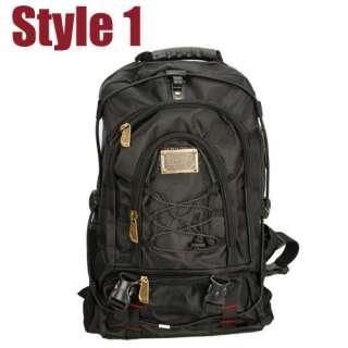 Fashionable Men Outdoor Travel Backpack Bag Bookbag Scool Bag Black