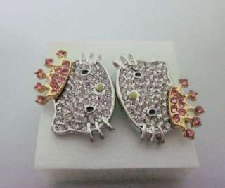 Pairs Crown Princess Hello Kitty earring earbob
