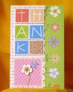 Handmade Greeting Card   A Bright and Happy Thanks