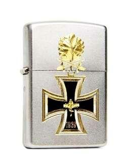 Original ZIPPO Feuerzeug Eisernes Kreuz Gravur  Satin
