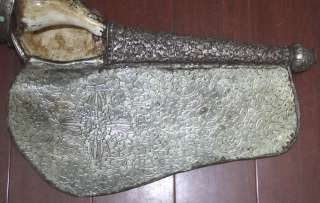 Silver Chank/Shankha Conch Shell Trumpet Horn     Museum Quality