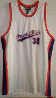 MENS STEVE & BARRYS PUERTO RICO BASKETBALL JERSEY XL