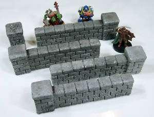 Brick Walls Set   Grey (4) Wargaming Wargame Terrain