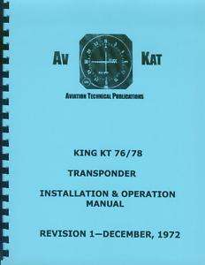 KING KT 76 / KT 78 TRANSPONDERS INSTALLATION MANUAL