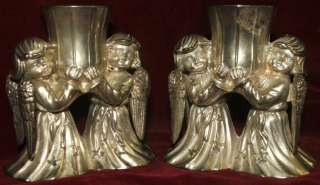 International Silver Co Cherub Angels Candle Holders