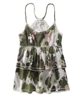 Aeropostale womens ruffled layered floral tank top