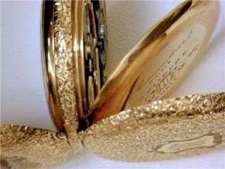 VINTAGE 14KT SOLID GOLD REMONTOIR LEVER POCKET WATCH 33mm, 28.1 grams